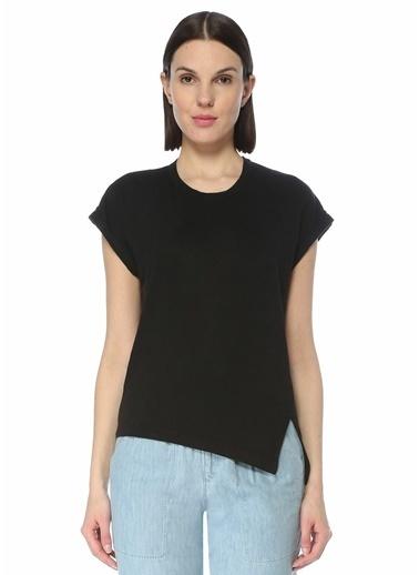 Etoile Isabel Marant Etoile Isabel Marant  Yırtmaç Detaylı Keten T-shirt 101623788 Siyah